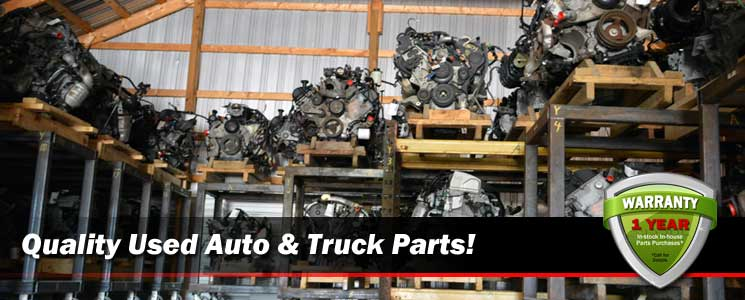 New & used auto parts for cars, trucks vans & SUVs